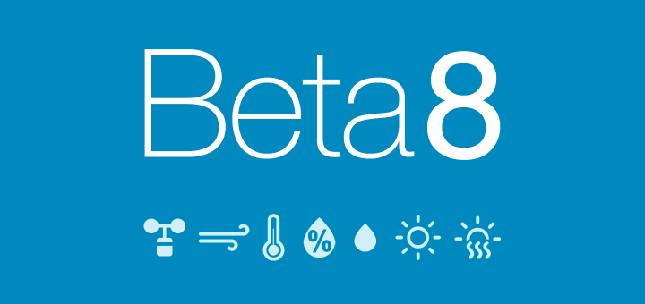 Weathercloud Beta 8 Now Available